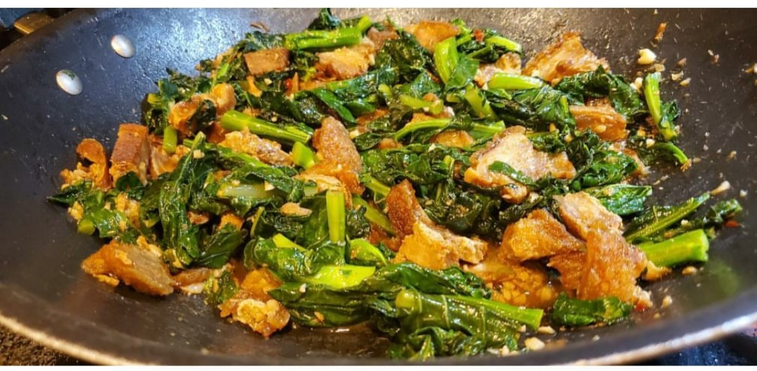 Chinese Broccoli with Chicharrones by Chef Rudy Sta Ana